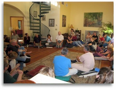 Meeting space for group retreats for yoga, meditation, women's retreats and healing retreats can be indoors or outside.